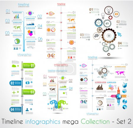 Timeline Infographic design templates Set 2.