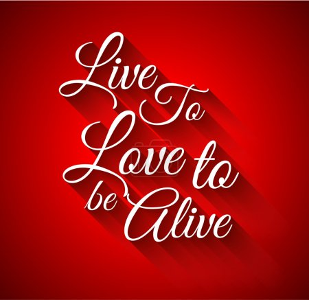 "Inspirational Typo:""Live to Love to alive"""
