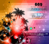 Music background for Disco Club Flyers