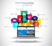 Modern Cloud Globals Services concept background