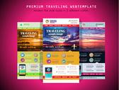 TRAVEL website flat UI design template