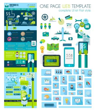 Website flat UI design template