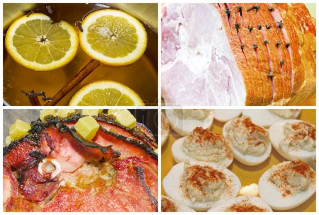 Christmas Ham Dinner Collage