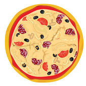 vector high detailed pizza