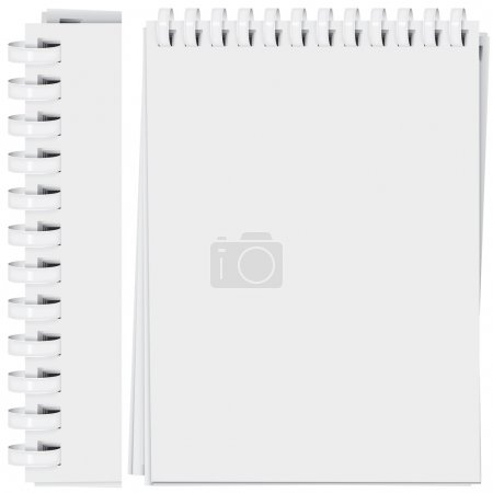 vector high detailed plastic spiral bound notepad page