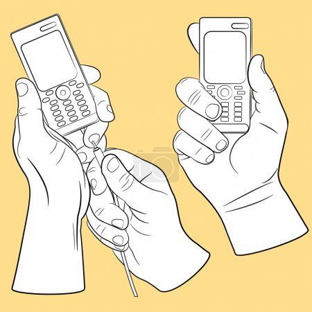Hand and mobile phone set