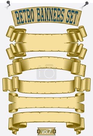 Illustration pour Grunge bannières déchiquetées ensemble - image libre de droit