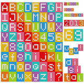 Pixel alphabet Set of all letters and numbers