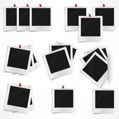 Polaroid fénykép test elszigetelt fehér background. Vektor szeretnénk