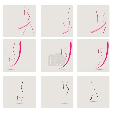 vector collection of girls images, ideal for spas