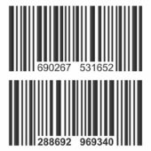 Isolated bar code vector