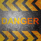 Abstract background with danger warning vector