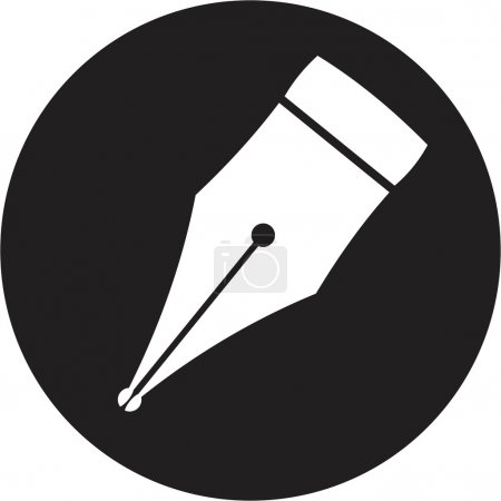 Illustration for Pen icon - Royalty Free Image