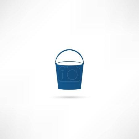 Illustration pour Icône vectorielle seau - image libre de droit