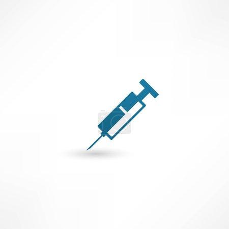 Illustration pour Icône de seringue - image libre de droit