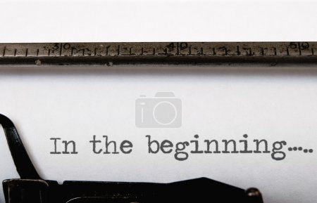 Photo for In the beginning written on a vintage typewriter - Royalty Free Image