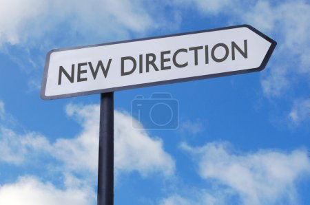 New direction sign