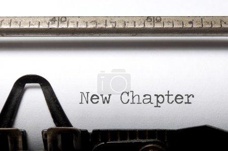 Photo for New chapter printed on a tyepwriter - Royalty Free Image