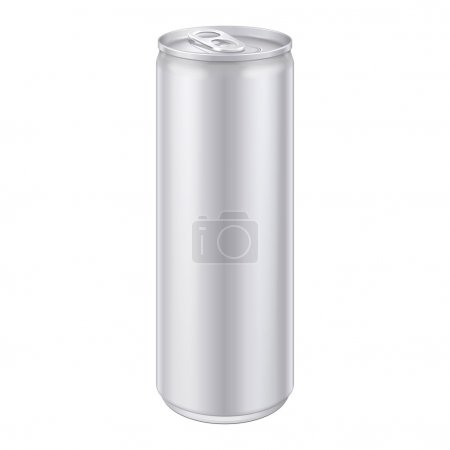 Metal Aluminum Beverage Drink Can. Ready For Your Design. Product Packing Vector EPS10