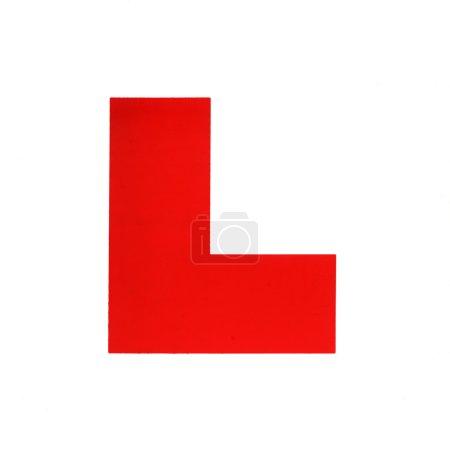 """Photo pour Plaque """"L"""" pour un conducteur apprenant . - image libre de droit"""