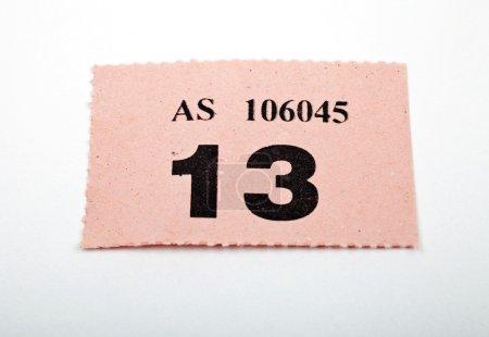 A Raffle Ticket