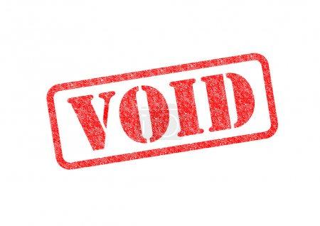 Photo pour 'VOID 'Timbre rouge sur fond blanc . - image libre de droit