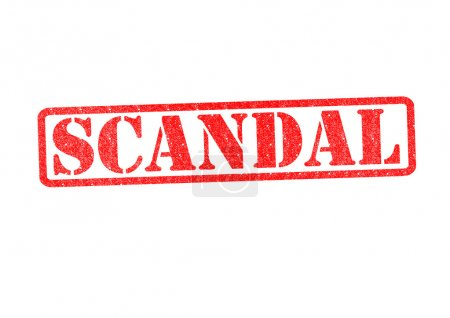 Photo for SCANDAL Rubber Stamp over a white background. - Royalty Free Image