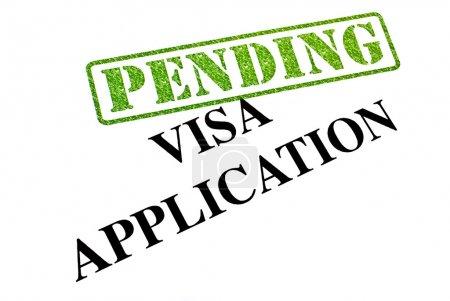 Photo pour Demande de visa est actuellement en cours. - image libre de droit