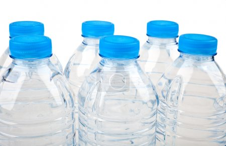 Bottled Water over a white background....