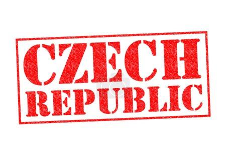 Photo pour Timbre en caoutchouc République tchèque sur un fond blanc. - image libre de droit