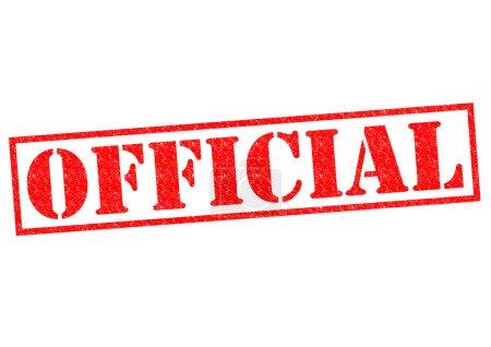 Photo pour Tampon en caoutchouc rouge officiel sur fond blanc . - image libre de droit