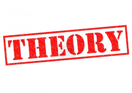 Photo for THEORY red Rubber Stamp over a white background. - Royalty Free Image