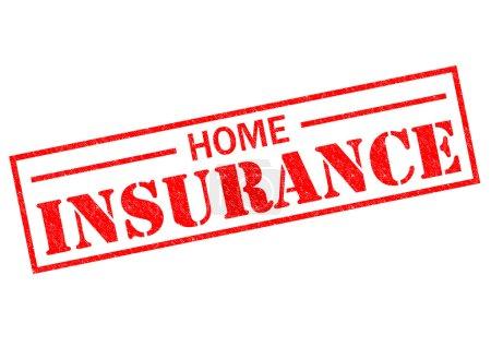 Photo pour Accueil assurance encreur rouge sur fond blanc. - image libre de droit
