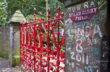 Photo for Strawberry Field in Liverpool.  Strawberry Field was immortalised in 'The Beatles' song 'Strawberry Fields Forever'. - Royalty Free Image