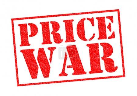Photo pour Timbre en caoutchouc prix guerre rouge sur fond blanc. - image libre de droit