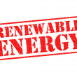 RENEWABLE ENERGY red Rubber Stamp over a white bac...
