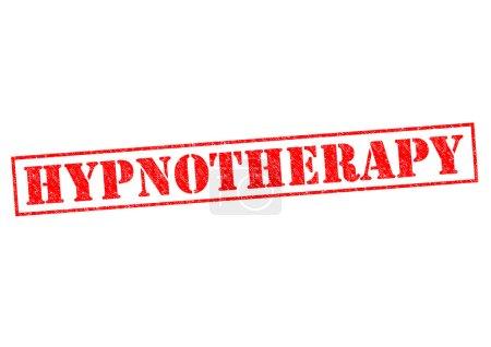 Photo pour Timbre en caoutchouc hypnothérapie rouge sur fond blanc. - image libre de droit