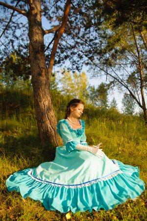 Girl in vintage dress