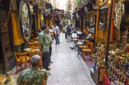 Souk market cafe in cairo in egypt...