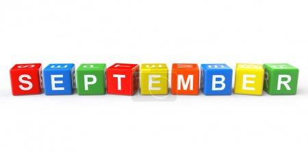 Cubes with September sign