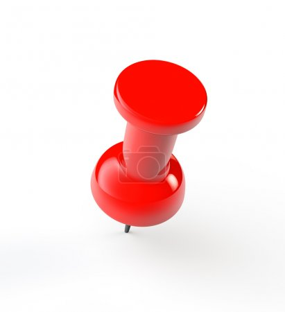 Red paper push Pin
