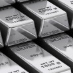 Stack of Bank Silver Bars extreme closeup