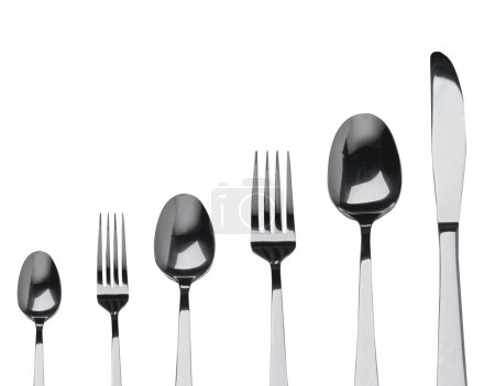 Photo for Fork ,knife and spoon on a white background - Royalty Free Image