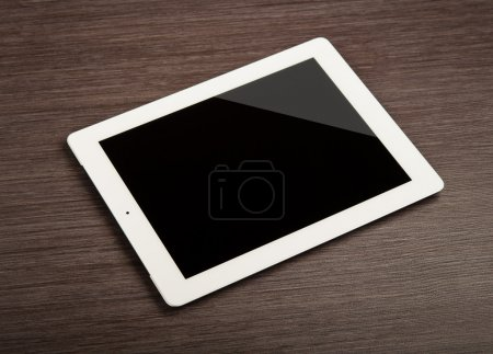White blank tablet pc on a desk