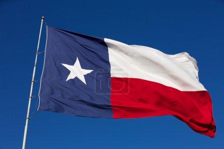 Foto de Bandera del estado ondulado de texas - Imagen libre de derechos