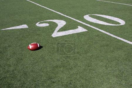 American Football near the Twenty Yard Line