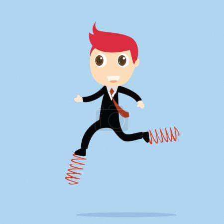 Businessman competition