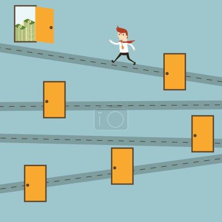 Shortcuts businessman
