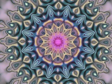 Spiritual mandala or chakra symbol, digital fractal artwork