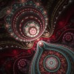 Lacy colorful clockwork pattern, digital fractal a...